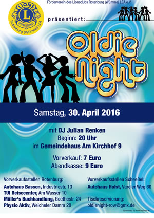 Oldienight der Leas in Rotenburg